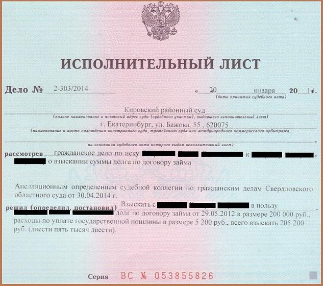 Исполнительный лист по уголовному делу банкротство физ лиц какие долги списываются